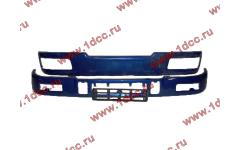 Бампер C синий верхний+нижний (в сборе) фото Ангарск